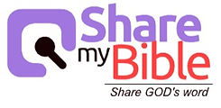 This is the logo of Share my Bible. You can search any verse/church/song with searchmybible.com.