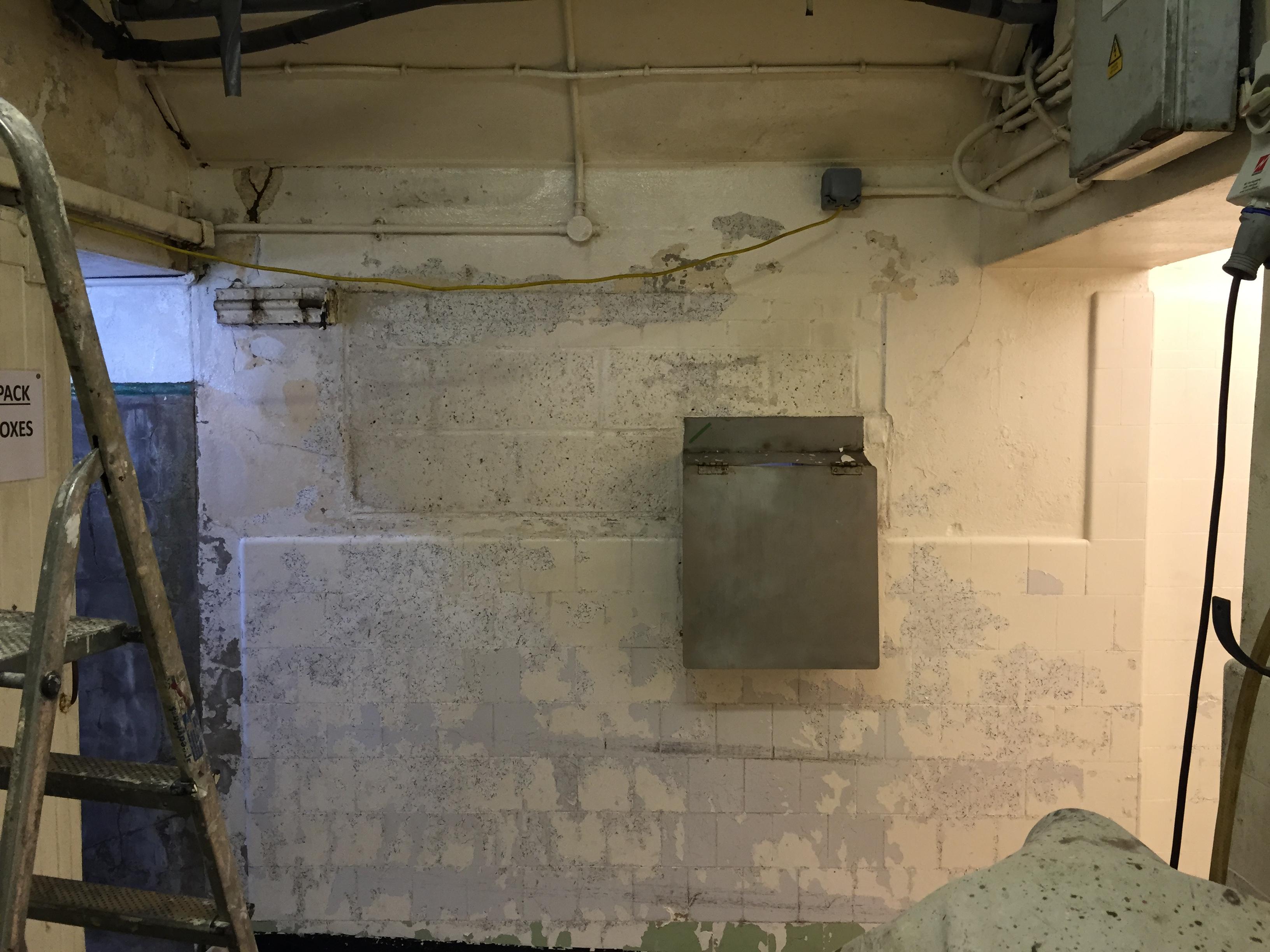 Boiler room before