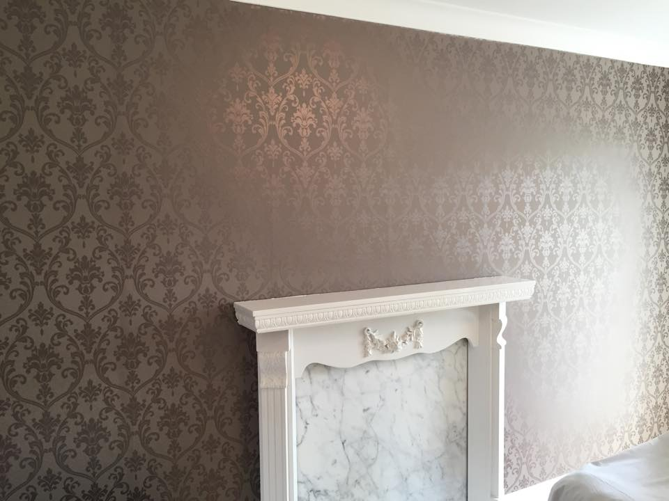 Feature wall after