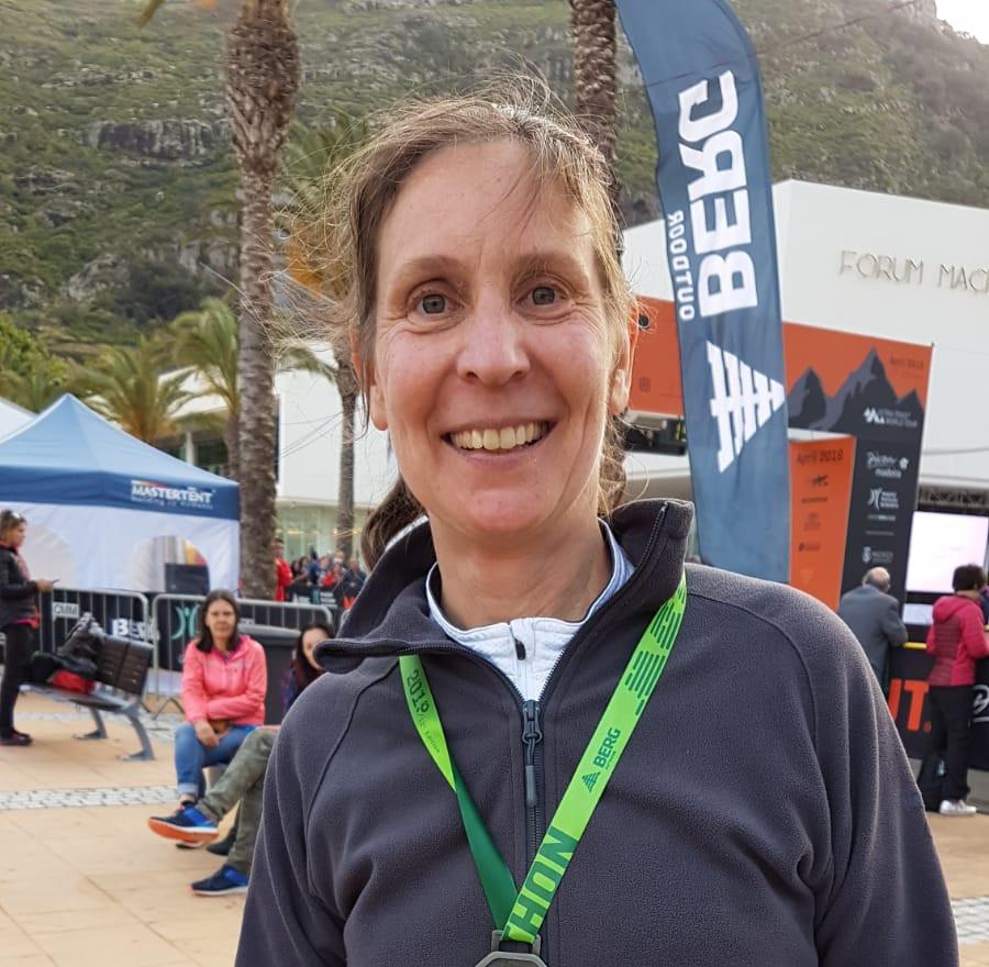 Christine sur le Marathon