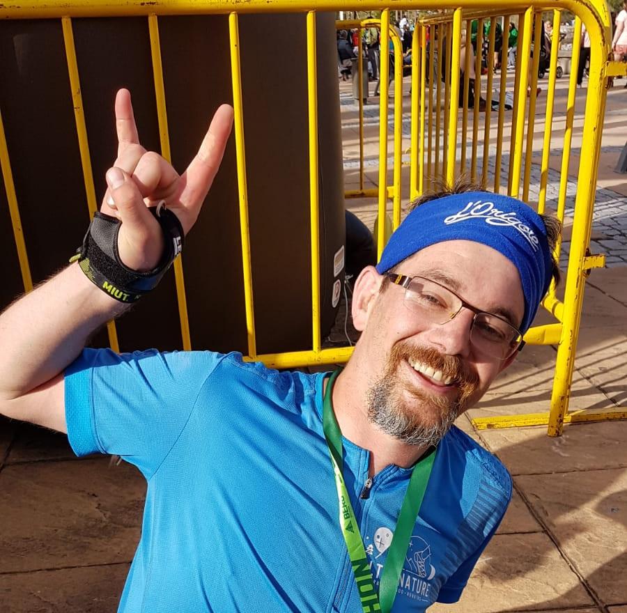 David sur le Marathon