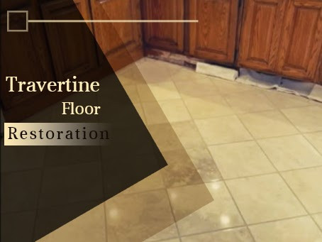 Restoring 16 Years Old Travertine Kitchen Floors, Bathroom Floors, and Granite Countertop