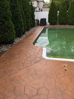 Another Stamped Concrete Pool Deck After RenuKrete Revival