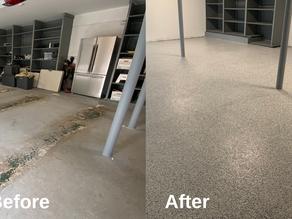 Epoxy coating or painting northern NJ's concrete basement and garage floors.