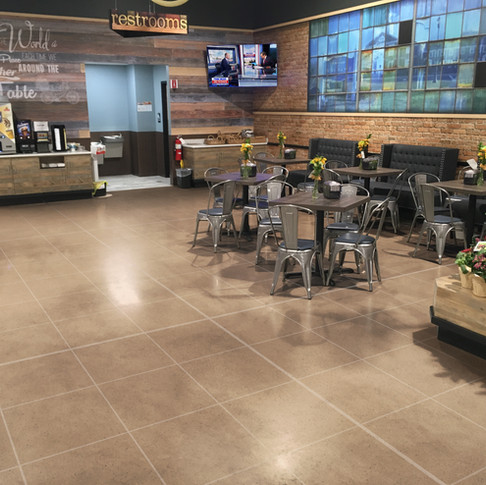 Cafe Setting at super market with RenuKrete ECF floors