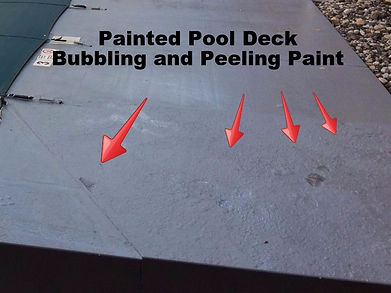 Painted Apartment Pool Deck Bubbling and Peeling
