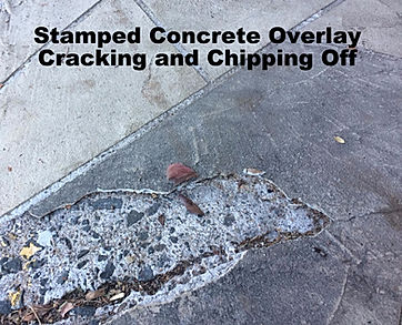 Stamped Concrete Overlay with Cracks and Chips
