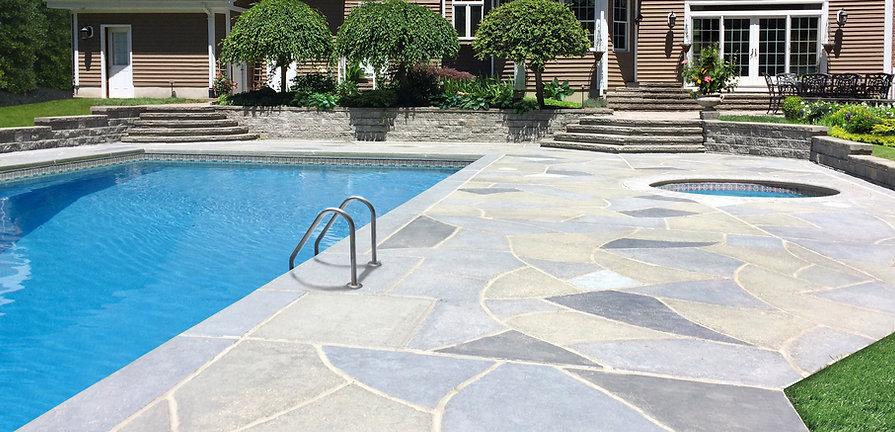 Resurfaced Concerte Pool Deck