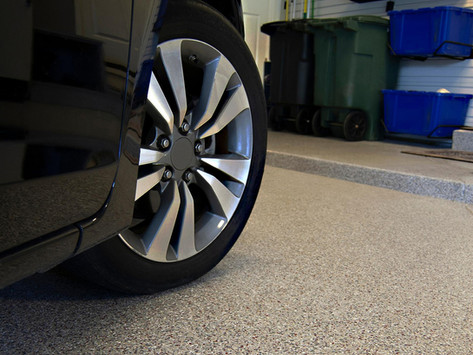 Professional garage floor restoration with epoxy works best for NJ homeowners !
