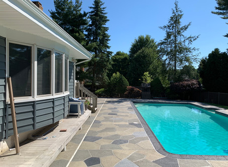 A restored pool deck by RenuKrete could boost your home selling price.