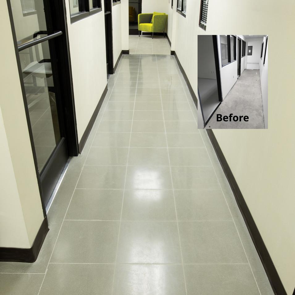 "Engineered Concrete Floor ""Natural Concrete"", Hallway"