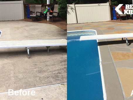 Book your 2022 Concrete Pool Deck Restoration early.