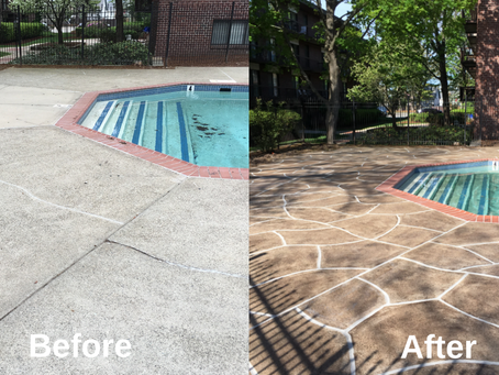 Can a concrete deck around a pool be resurfaced?