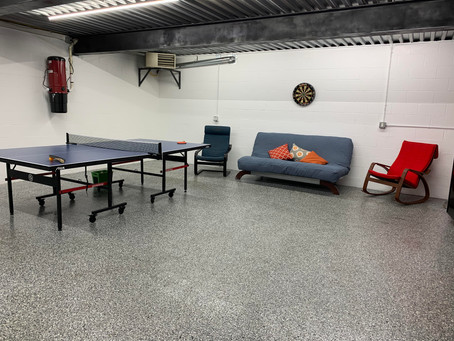Turn garages into living space with RenuKrete epoxy covered floors.