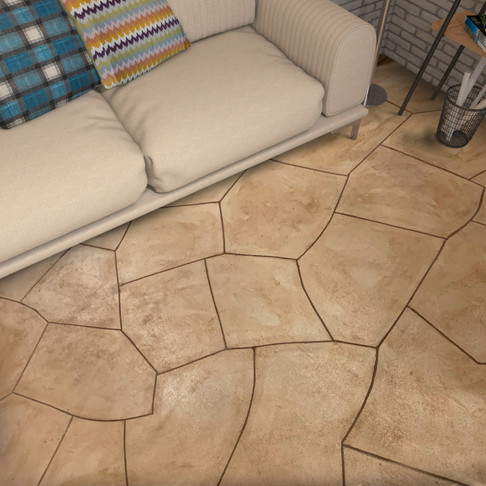 Concrete Floor in Flagstone Style Tuscany