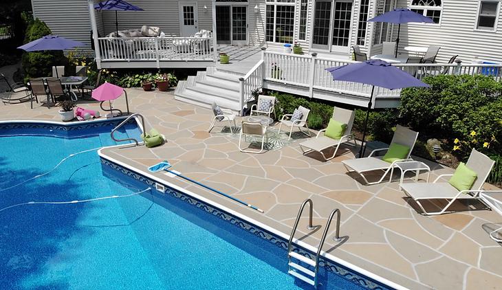 Concrete Pool Deck Classic Flagstone  - Hurricane Slate