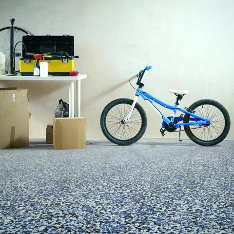 Epoxy Floor by RenuKrete in Utility Room - Blue Shore