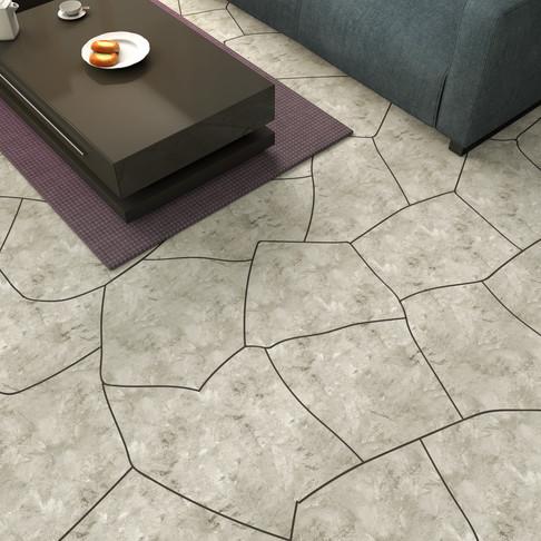 Concrete Floor in Flagstone Style Sandstone