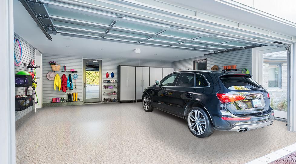 RenuKrete Brown Acres Epoxy garage floor