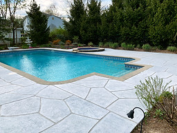 Concrete Pool Deck Classic - Granite Boulder