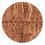 """Thumbnail: Rustic Oak with Grout Marrone, 6"""" x 6"""" Sample"""