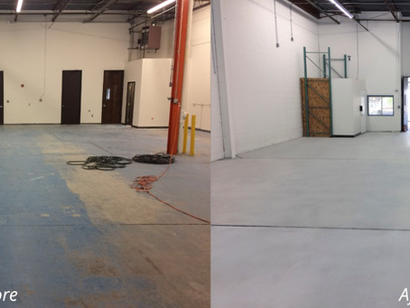 NY warehouse owner calls RenuKrete to polish concrete floor to attract new tenant.