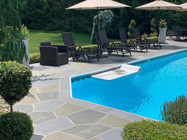 Concrete Pool Deck Classic Flagstone  - Granite Slate
