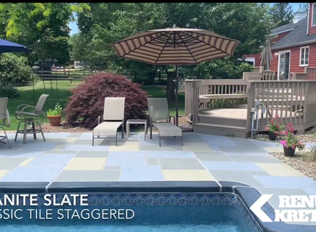How do you restore dirty and cracked concrete pool decks? In Morris County NJ, call RenuKrete.