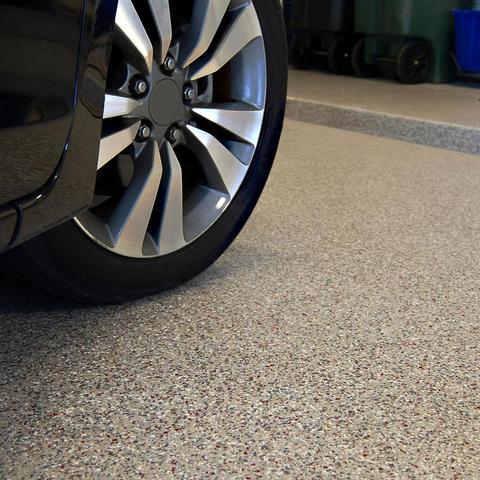 RenuKrete Epoxy Garage Floor in Sandstone