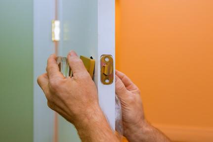 Installing a new door lock