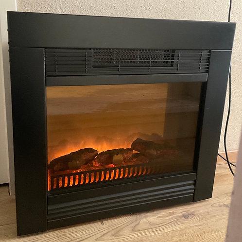 Sfeerhaard met electrische verwarming en ventilator, inbouw