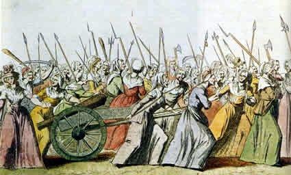 Mujeres francesas marchando a Versalles