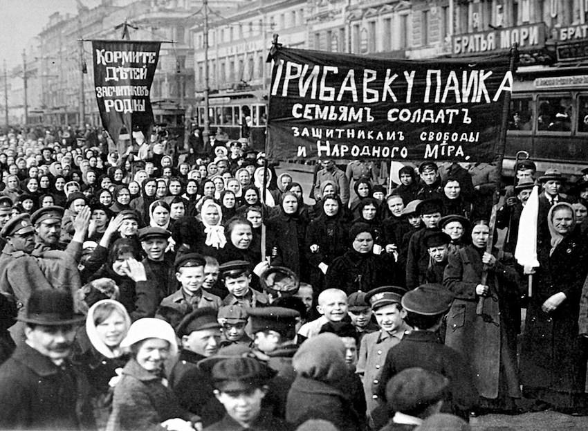 Mujeres rusas en la revolución de febrero de 1917