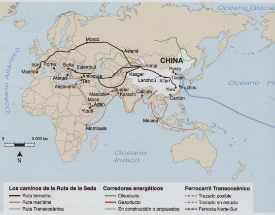 IMAGEN 1: Ruta de la seda s.XXI Fuente: Higueras, G. (2015) La Ruta de la Seda del Siglo XXI