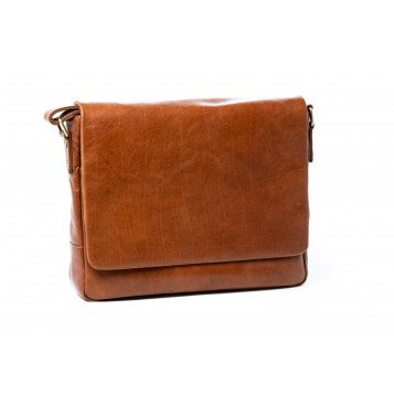 Oran leather brandy satchel bag