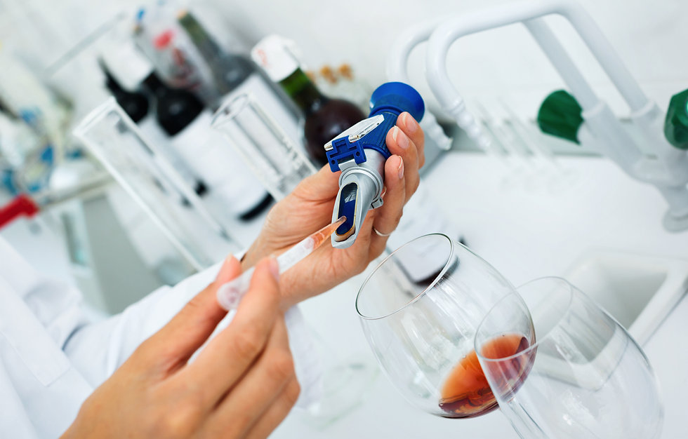 View on efficient hands working in chemi