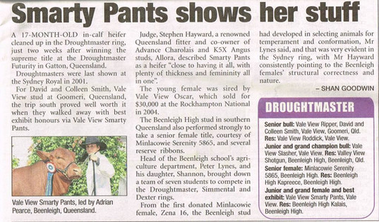 2010 Smarty Pants, winning at Sydney Royal