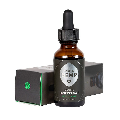 Hemp Extract Tincture (1oz, 1000mg CBD) Mojito Lime