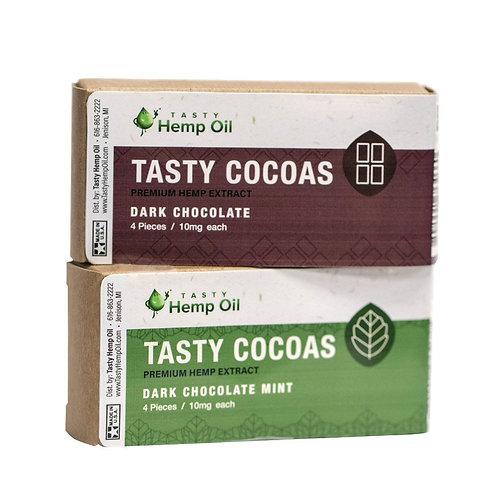 Tasty Cocoas Hemp Chocolate (10mg CBD) 4 Pieces