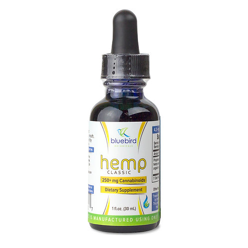 Hemp Oil Drops Classic (2oz/500mg CBD)