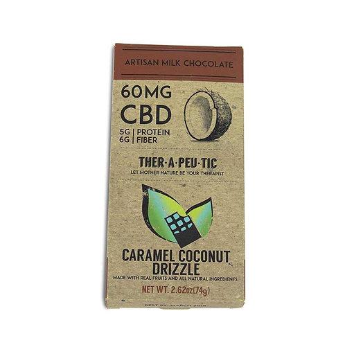 Therapeutic – CBD Milk Chocolate  Caramel Coconut Drizzle (60mg CBD)