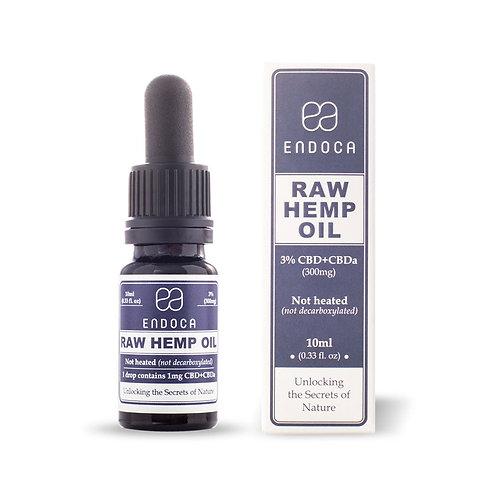 Endoca Hemp Oil Drops Raw (300mg CBD)