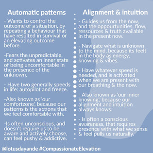 Automatic patterns vs. Intuition