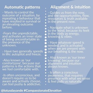 When our automatic patterns recognizes pain as safety...
