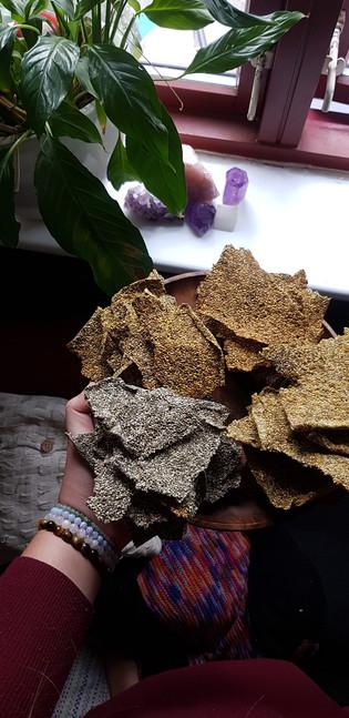 Easy crunchy Chia Crackers