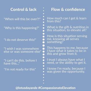 Control vs. flow