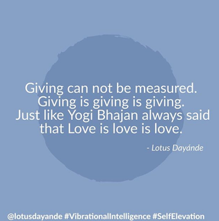 Giving cannot be measured - Giving is giving is giving
