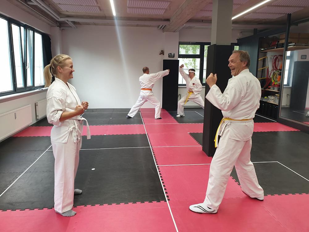 Spaß beim Karatetraining