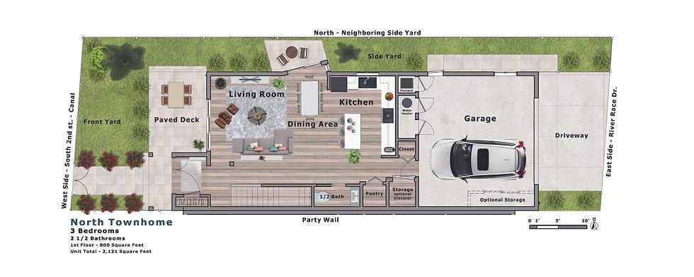 Millrace_Model_B_North Townhouse Lvl 1 S