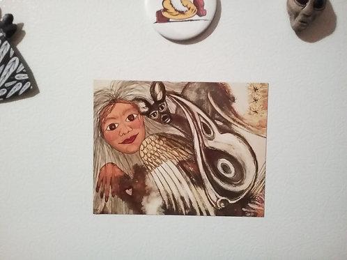 Fine Art Post Card Magnet